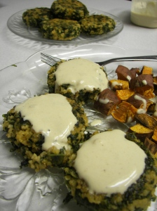 Cheezy Tahini Sauce (On Kale Millet Croquettes)