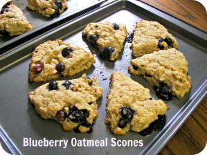 Title, Blueberry Oat Scones