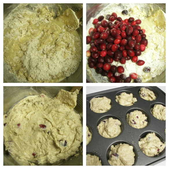 Collage, Cranberry Muffins 2