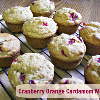 Cranberry Orange Cardamom Muffins