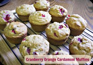 Title, Cranberry Orange Cardamom Muffins