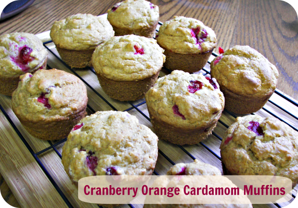 Title, Cranberry Orange Cardamom Muffins