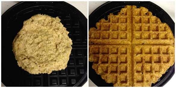 collage, pumpkin cornbread waffles 2