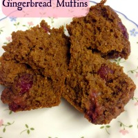 Pumpkin Cranberry Gingerbread Muffins
