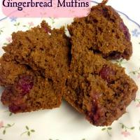 Pumpkin Cranberry Gingerbread Muffins